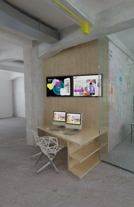 biuro w stylu industrialnym